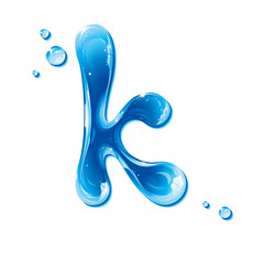 ABC series - Water Liquid Letter - Small Letter k