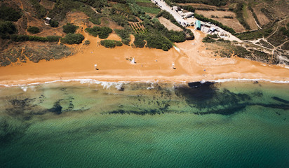 Ramla Bay, Gozo, from the Air