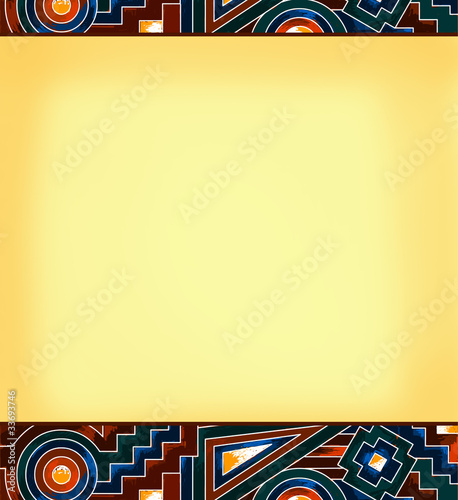 Old bold geometric pattern with space for messages