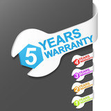 Right side sign - WARRANTY. Vector illustration. poster