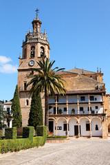 Kirche Colegiata de Santa María la Mayor in Ronda, Spanien