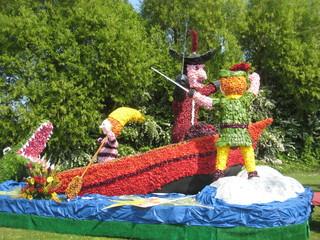 Peter Pan in flowers