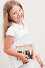 Back to school - cute schoolgirl