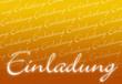 Einladungskarte - Orange weiß