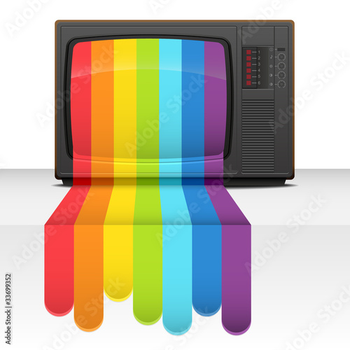 Tv rainbow. Abstract vector illustration.