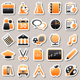 e-learning Orange Stickers