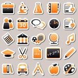 Fototapety e-learning Orange Stickers