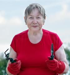 portrait of a senior gardener