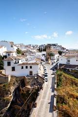 Blick auf Ronda mit Iglesia de Nuestro Padre Jesus, Spanien