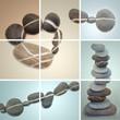 zen steine collage farbig