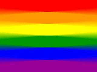 Bandeira multicolor do orgulho desfocada