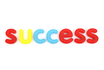 colorful success letters