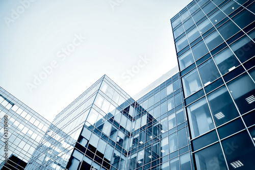 canvas print picture modern business center at night
