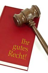 Richterhammer aus Holz mit Buch