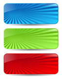 Abstract vector banners set