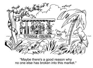 Broken into market