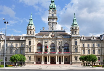 impressive sights in Gyõr -town hall (Hungary)