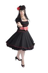 Tänzerin im Petticoat dreht sich