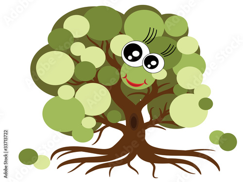 Cute tree,vector