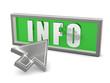 Info - Schild mit Pfeil