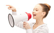 teenage girl with megaphone