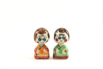 doll of old woman in japan style