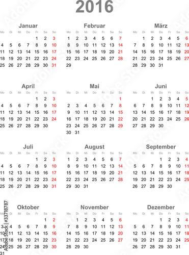 Kalender 2016 Met Weeknummers Calendar Template 2016 Pictures to pin ...