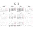 Kalender quer 2016