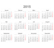 Kalender quer 2015