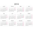 Kalender quer 2014