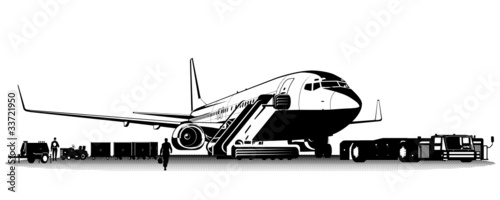 Vector commercial airliner