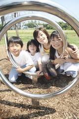 母と子供たち ポートレート