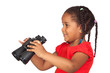 African little girl with binoculars