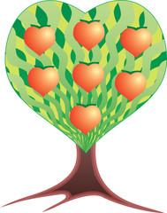 Дерево любви. Графический рисунок.