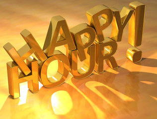 Happy Hour Gold Text