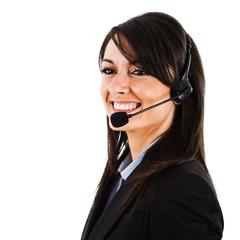 Beautiful female customer representative portrait