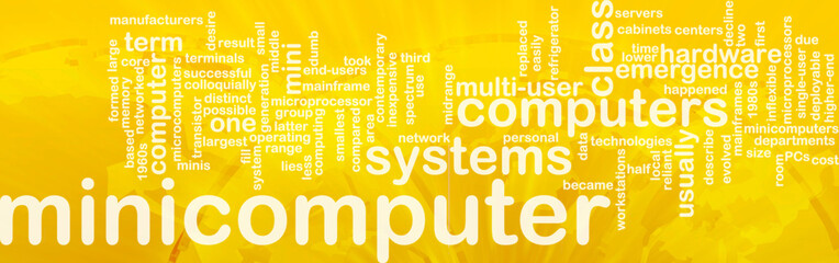 Minicomputer word cloud
