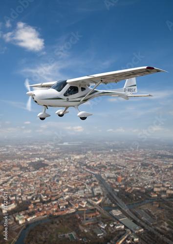 Leinwanddruck Bild sightseeing flight