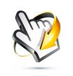 icône main curseur flèche - hand cursor arrow