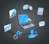 ERP Enterprise Resource Planning poster