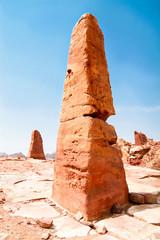 Nabatean obelisk in Petra