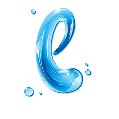 ABC series - Water Liquid Letter - Small Letter l