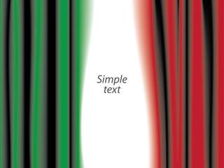Bandiera dell'Italia sipario