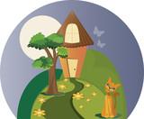 A casinha e o gato poster