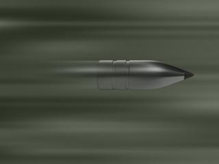 Fast silver bullet, gun shot, ammo