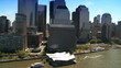 Aerial view of the Financial District a Battery Park, NY, USA