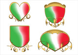 Italian tricolor ancient emblems