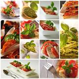 Fototapety Kuchnia włoska - kolaż