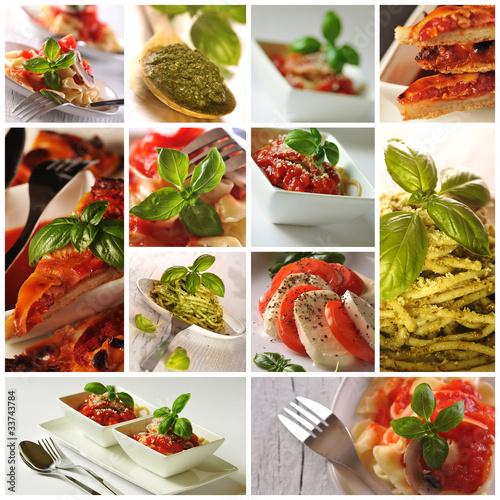 Fototapete Italienische Küche - Collage