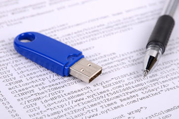 Pen,USB disk and html page